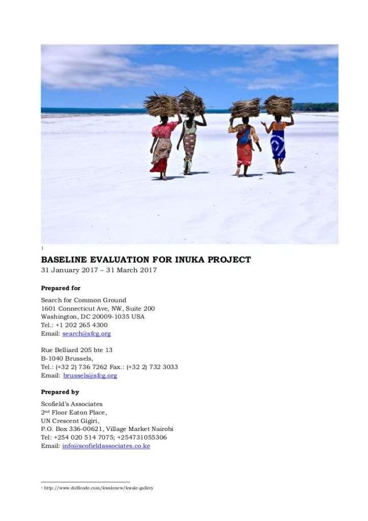 Inuka baseline study cover