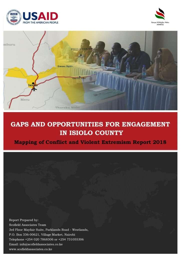 Gaps and Opportunities for CVE engagement in Isiolo report cover