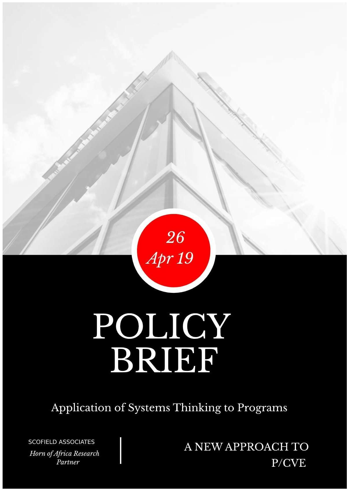 Systems Thinking to PVE Programs April Cover page image